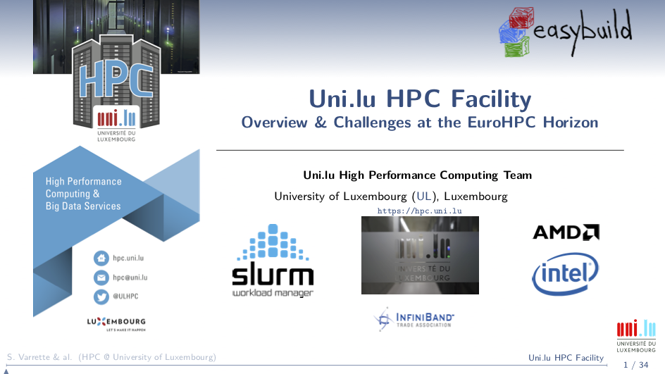 ULHPC Overview (2020)